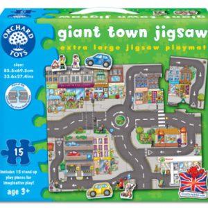 Puzzle gigant de podea - Orasul - 15 piese-0