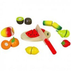 Set de fructe taiate din lemn-0