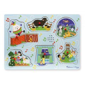 Puzzle cu sunete Cantecele copilariei 2 - Melissa and Doug-0