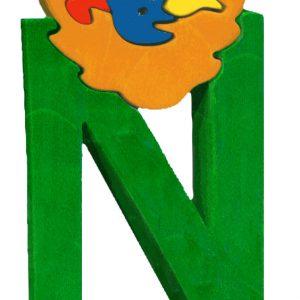 Litera N - puzzle din lemn-0