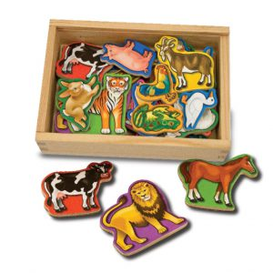 Animale de lemn cu magneti Melissa and Doug-0