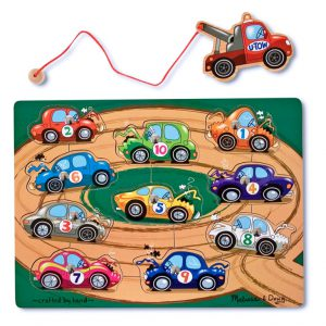Puzzle lemn magnetic Remorcherul Melissa and Doug-775