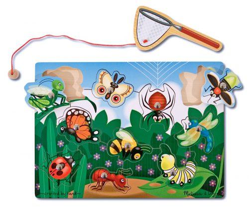 Joc din lemn magnetic Prinde insectele Melissa and Doug-0