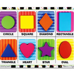 Puzzle lemn in relief Forme geometrice Melissa and Doug-0