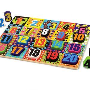 Melissa & Doug - Puzzle lemn in relief Numere de la 1 la 20-0