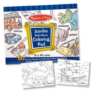 Caiet jumbo cu desene pentru colorat Melissa and Doug Albastru-0