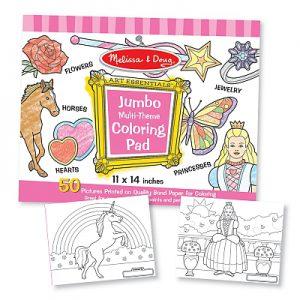 Caiet jumbo cu desene pentru colorat Melissa and Doug Roz-0