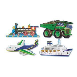 Puzzle de podea Mijloace de transport Melissa and Doug-0