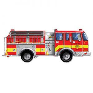 Puzzle de podea gigant Masina de pompieri Melissa and Doug-0