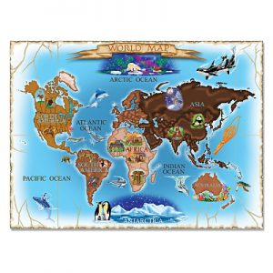 Puzzle harta lumii World Map Melissa and Doug 500 piese-0