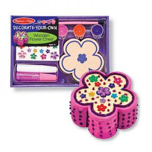 Decoreaza cutiuta floricica pentru bijuterii Melissa and Doug-0