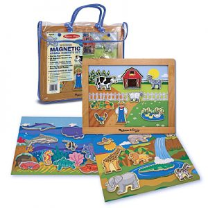 Set de joaca magnetic Habitatele animalelor Melissa and Doug-0