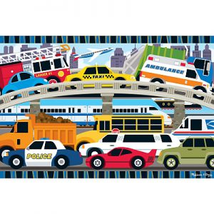 Puzzle de podea Blocaj in trafic Melissa and Doug-0