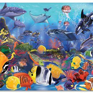 Puzzle de podea Viata subacvatica Melissa and Doug-0