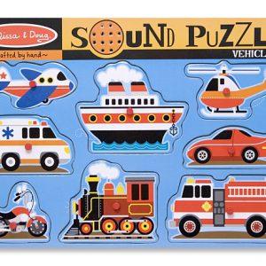 Puzzle cu sunete Vehicule Melissa and Doug-0