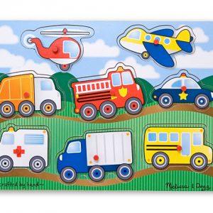 Melissa&Doug - Puzzle lemn Vehicule-0