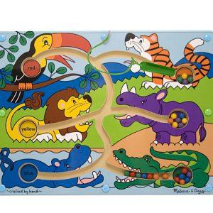 Joc din lemn Labirint Magnetic Culorile Melissa and Doug-0