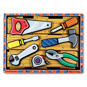 Puzzle lemn in relief Uneltele Melissa and Doug-0