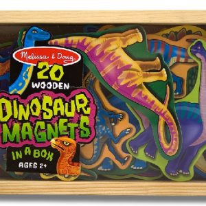Dinozauri din lemn cu magneti Melissa and Doug-0