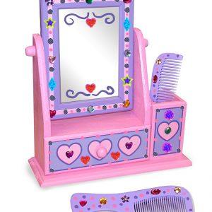 Decoreaza-ti propriul set din lemn cu oglinda Melissa and Doug-0