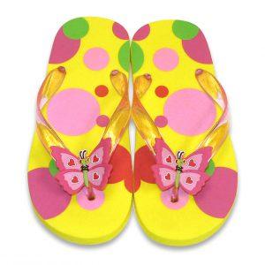 Papuci de baie sau plaja copii Bella Butterfly Melissa and Doug mas 22-23-0
