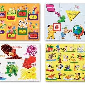Puzzle de podea Educational 4 Melissa and Doug-0