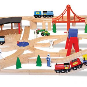 Set Trenulet din lemn cu depou Melissa and Doug-977