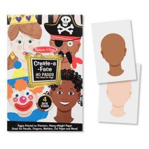 Creaza portrete Bloc de desen cu portrete predesenate Melissa and Doug-0