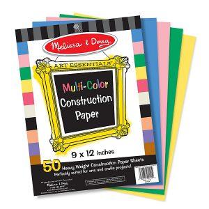 Hartie multicolora pentru proiecte de lucru manual Melissa and Doug-0