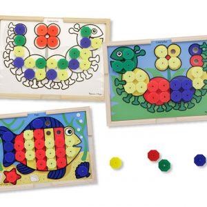 Mozaic din lemn cu culori Melissa and Doug-0
