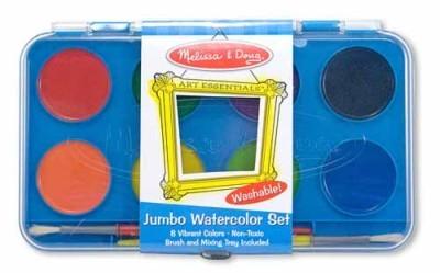 Acuarele Jumbo set de 8 culori cu pensula Melissa and Doug-0