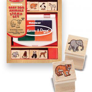Set de stampile Pui de animale salbatice Melissa and Doug-0