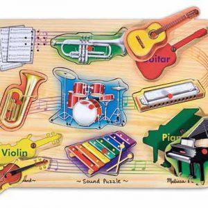 Melissa & Doug - Puzzle sonor Instrumente muzicale natur-0