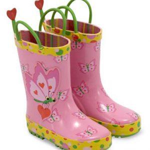 Cizme de ploaie pentru copii Bella Butterfly Melissa and Doug marime 29-31-0