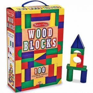 Cuburi din lemn colorate Melissa and Doug 100-0