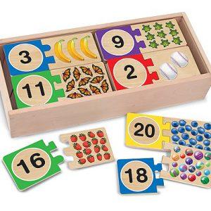 Puzzle din lemn pentru invatarea numerelor-0