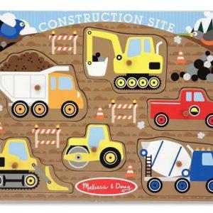 Puzzle lemn santierul de constructii Melissa and Doug-0