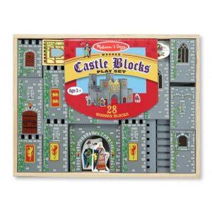 Set de cuburi din lemn Castel Melissa and Doug-0
