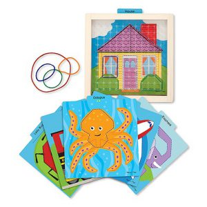 Joc de indemanare Intinde si potriveste Melissa and Doug-0
