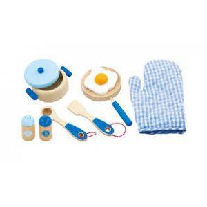 Set accesorii albastre pentru bucatarie-0