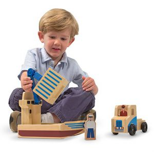 Set de joaca Vapor cargo si camion Melissa and Doug-0