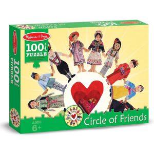 Puzzle Copiii lumii Melissa and Doug 100 piese-0