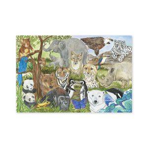 Puzzle de podea Animale protejate Melissa and Doug-0