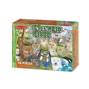 Puzzle de podea Animale protejate Melissa and Doug-1535