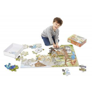 Puzzle de podea Animale protejate Melissa and Doug-1536