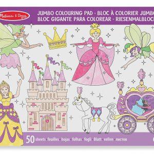 Caiet jumbo cu desene pentru colorat Printese si zane Melissa and Doug-0