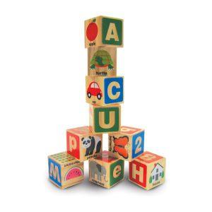 Cuburi din lemn Alfabetul-0
