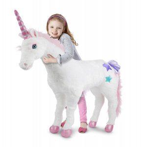 Unicorn gigant din plus Melissa and Doug-0