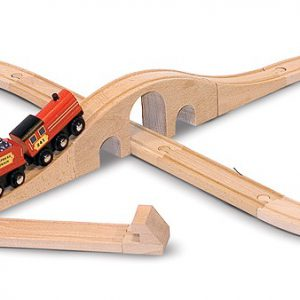 Tren lemn si Circuit 8 Melissa and Doug-1040