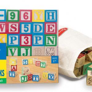 Cuburi litere si numere - 50 buc-0